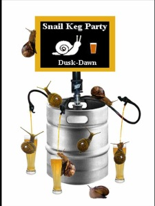 Guerilla Garden Snail Keg Party